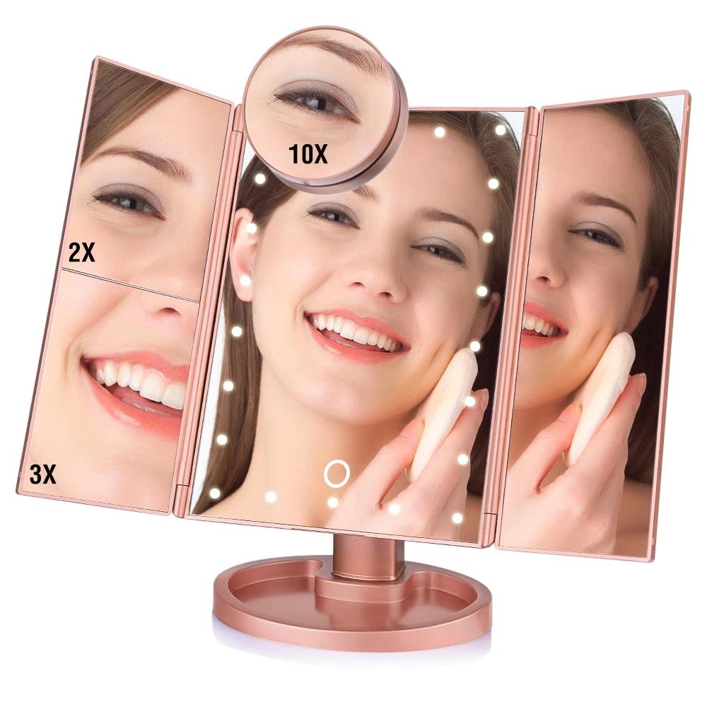 Bold Skincare 22 LED Vanity Folding Makeup Mirror Light
