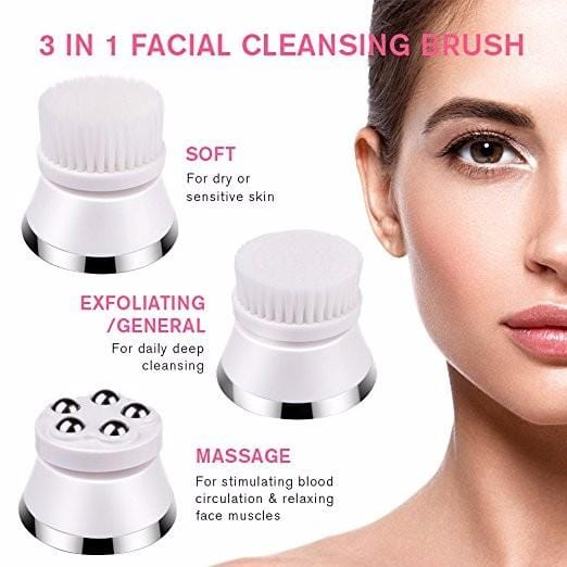 Bold Skincare Electric Facial Cleansing Brush: 4 in 1 Brush Heads