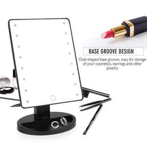 Bold Skincare Vanity Makeup Mirror with LED Lights and Touch Screen