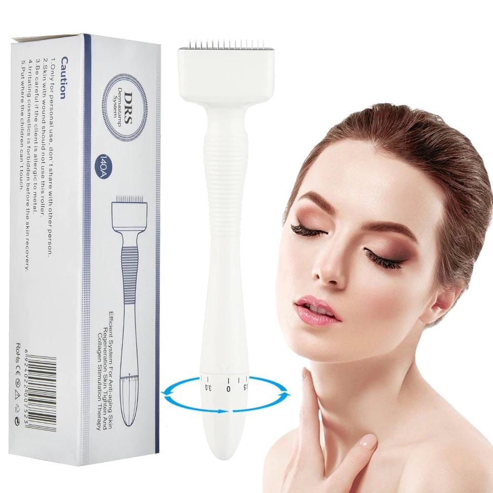 Bold Skincare Derma Stamp: Stainless Steel Anti-Aging Therapy | 140 Micro Needles For Collagen Stimulation