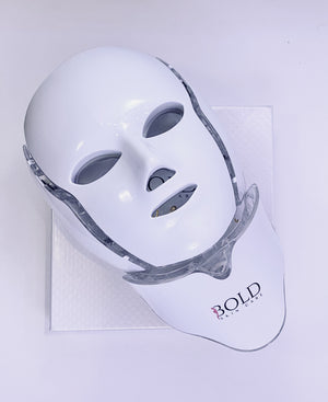 Bold Skincare 7 Color LED Light Therapy Mask for Face & Neck