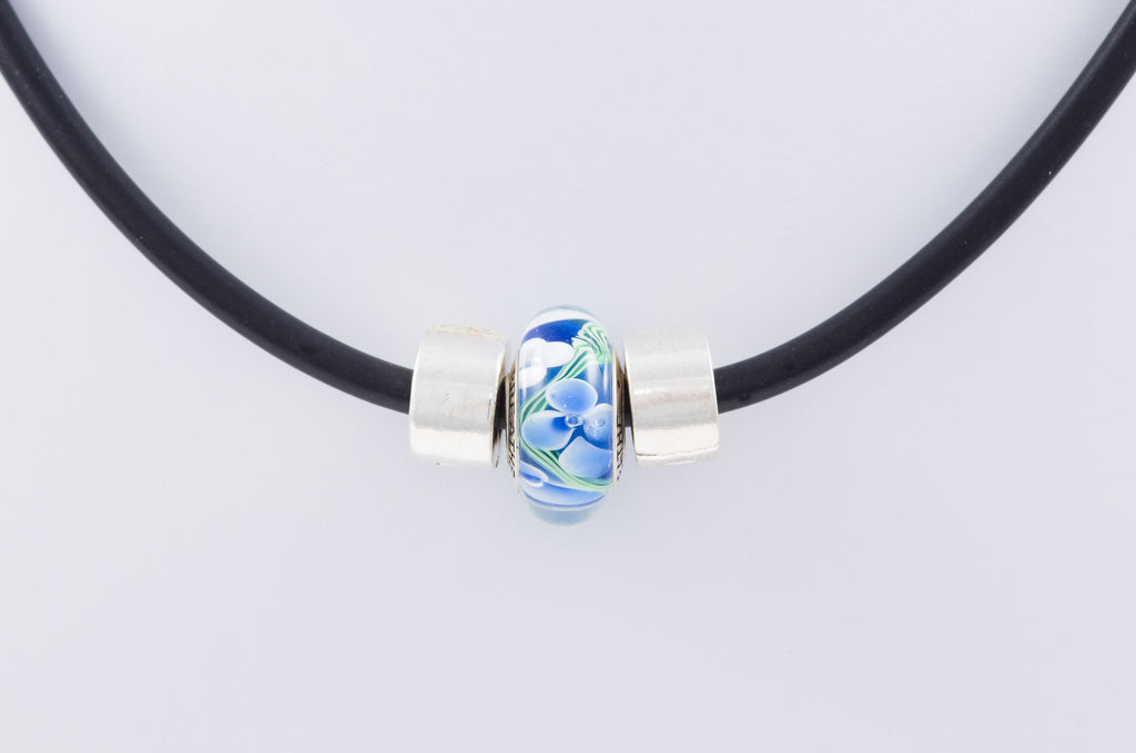 Breathe bead on sporty necklace