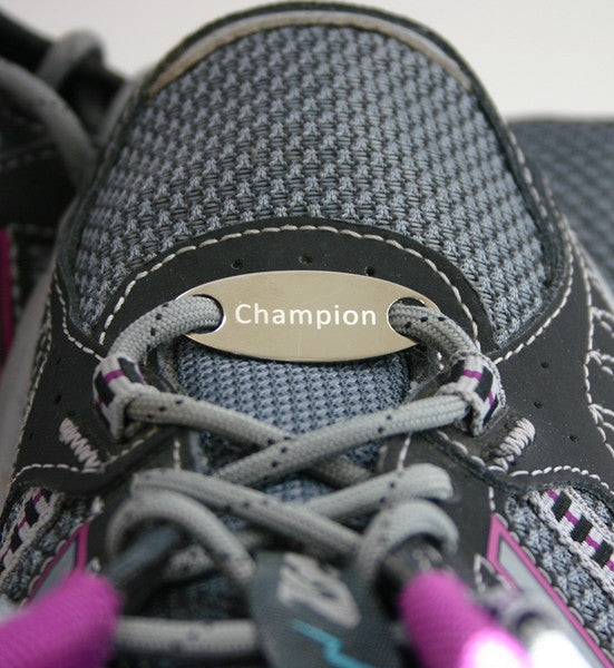 Champion sneaker tag