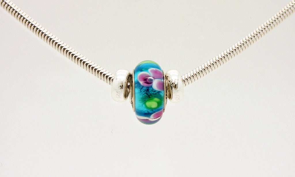 Survivor bead on sterling silver necklace