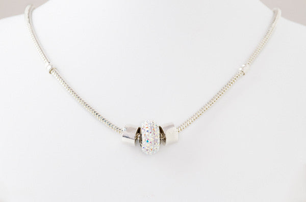Just Watch Me! bead on sterling silver necklace