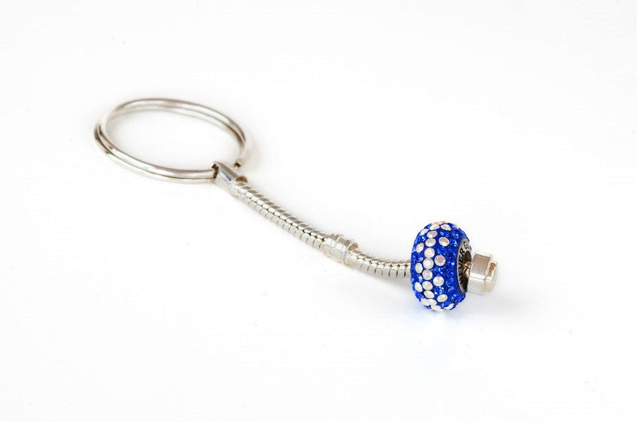 Never Give Up bead on keychain