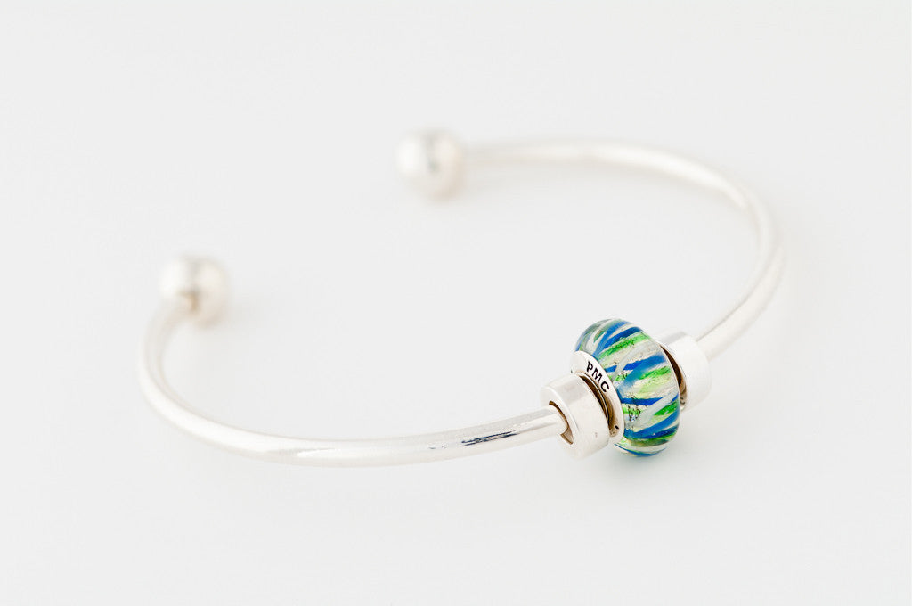PMC 2012 bead on bangle bracelet