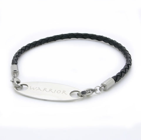 Make it into a bracelet! Black braided leather