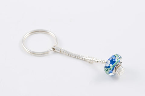 Breathe bead on keychain