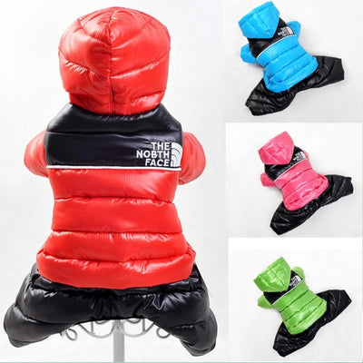 Free Shipping New Dog Clothes Winter Warm Pet Down Jumpsuit Apparel Hooded Dogs Costume XXL Big or Small Dog Coat Jacket
