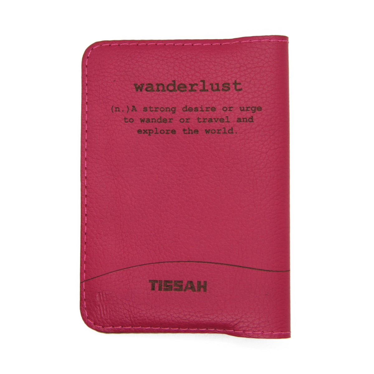 Wanderlust - Pink Passport Sleeve