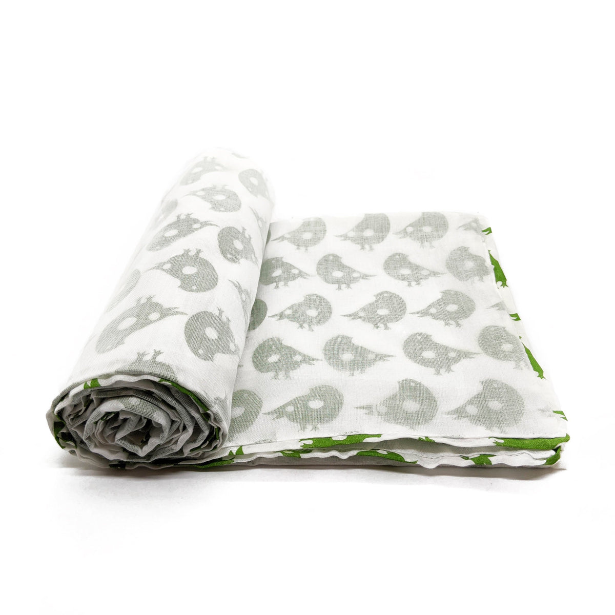 Baby Blanket - Green Birds