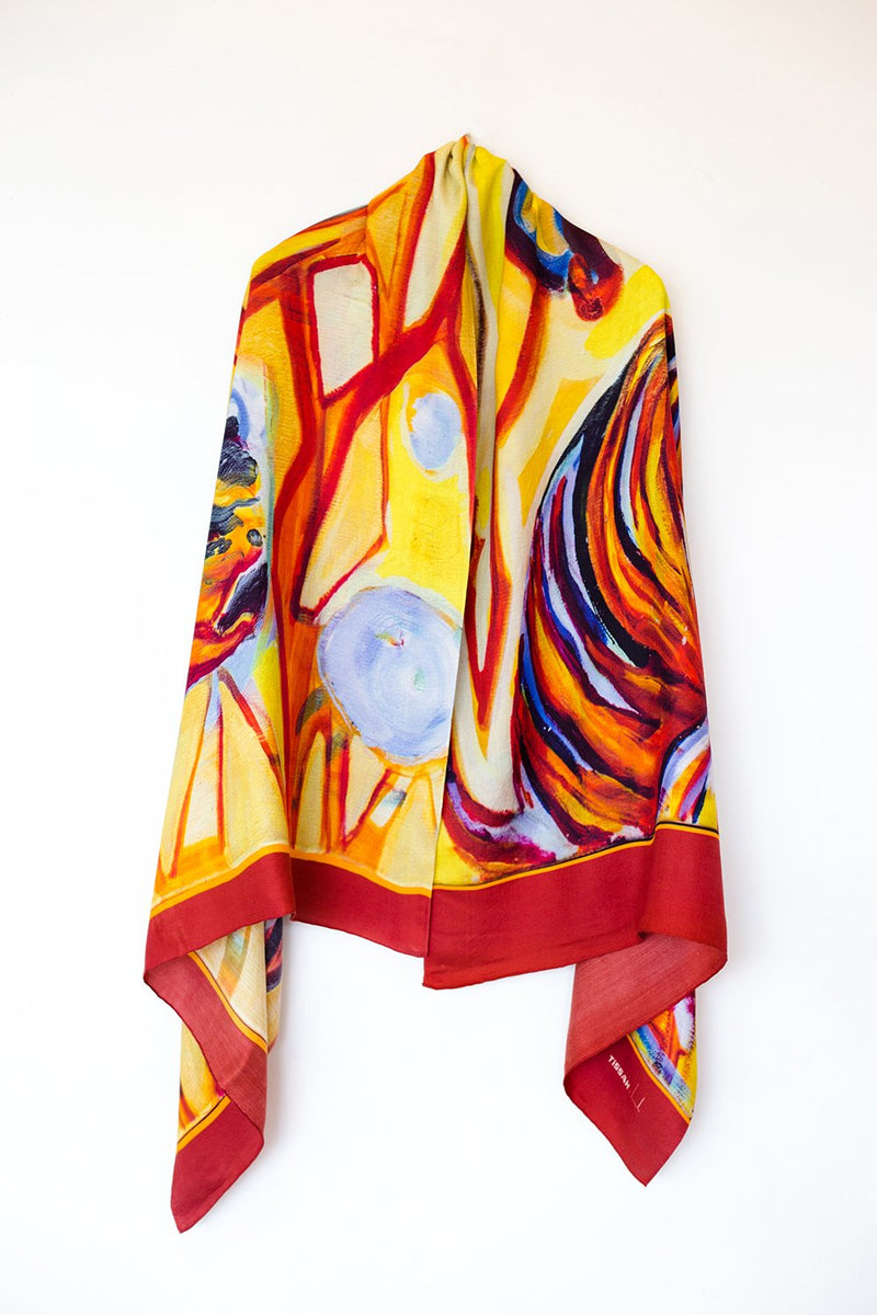 Bagh-Tiger Silk Shawl
