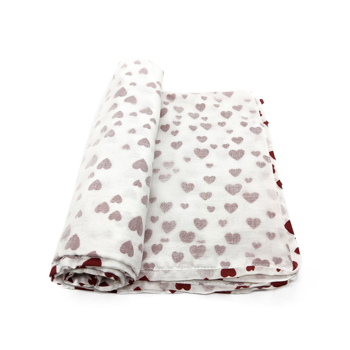 Baby Blanket - Red Hearts