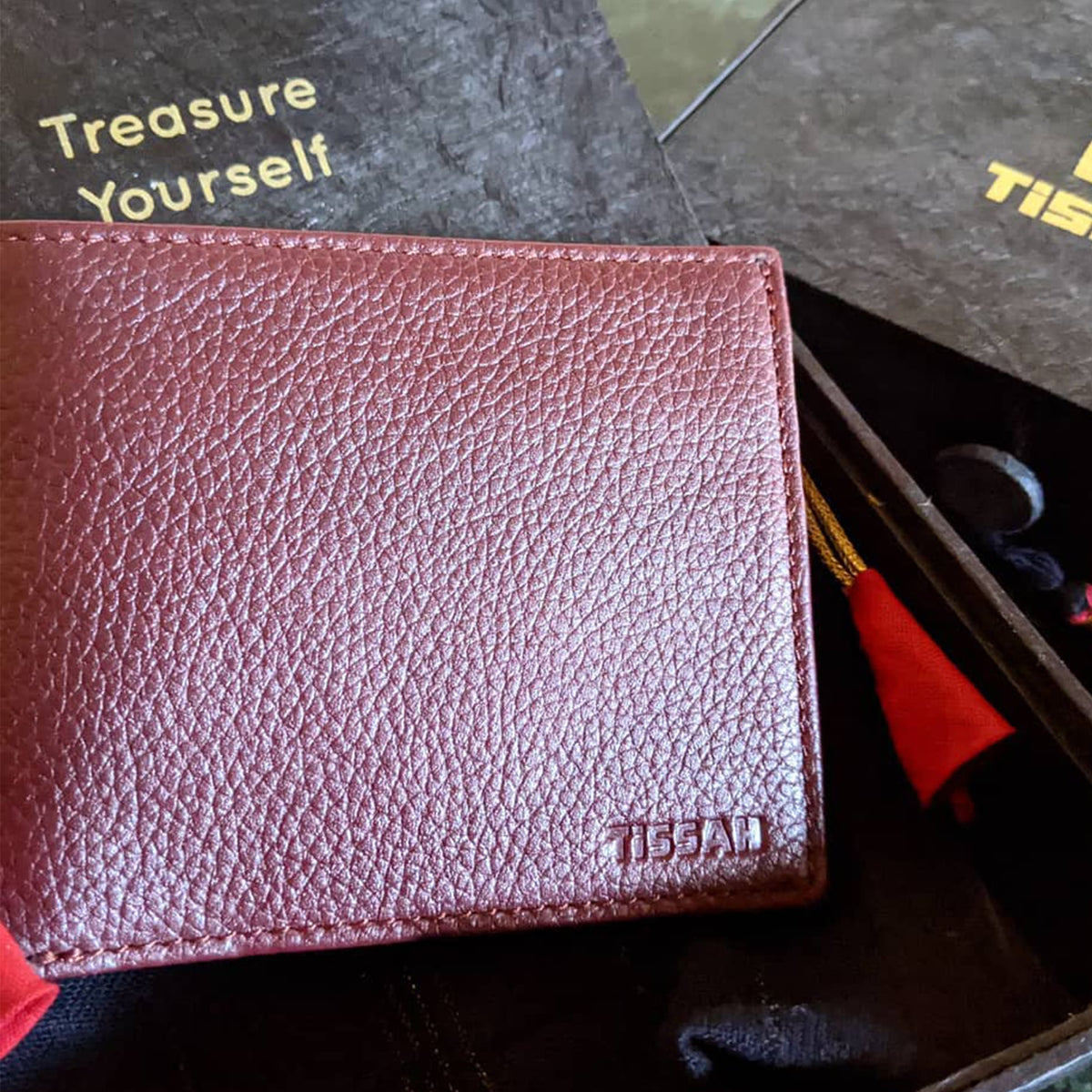 Men's Wallets -  Maroon