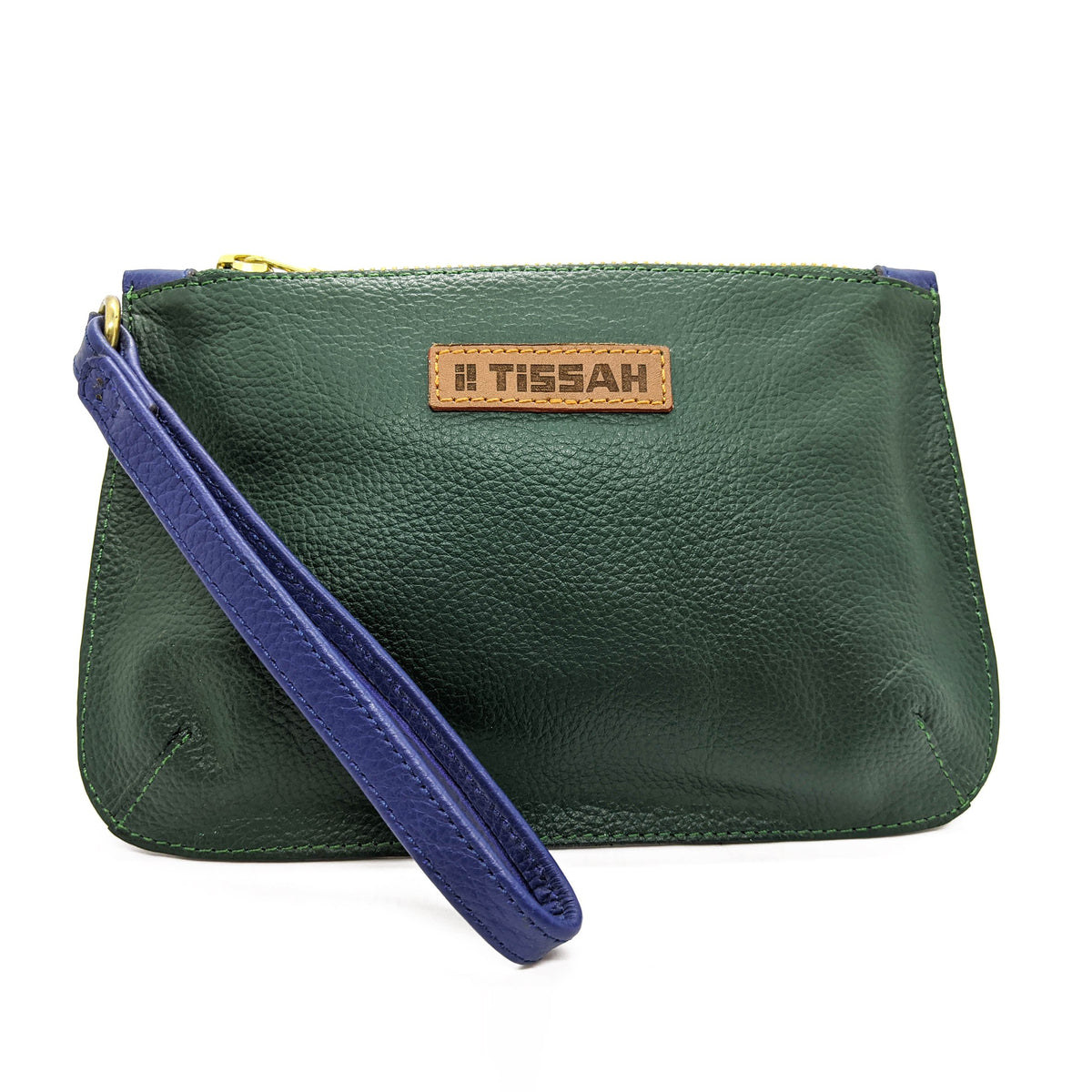 Wristlet - Green with Blue trimmings