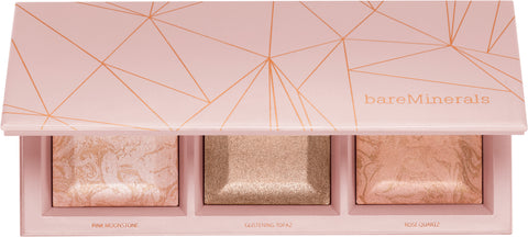 BARE MINERALS CRYSTALLINE GLOW BRONZER & HIGHLIGHTER PALETTE