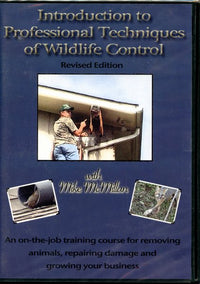 DVD-McMillan-Intro to Professional Techniques of Wildlife Control almost four hours