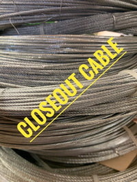 "CLOSEOUT - 231ft of 1/16"" 7X7 Chinese Cable (CO812)"