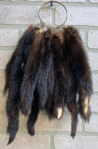 "Huge tanned mink tails 8""-10'' Average length, fully Prime"