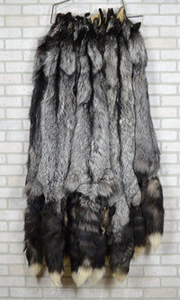 "Tanned Huge 56""plus Silver Fox Hide (silfox56)"