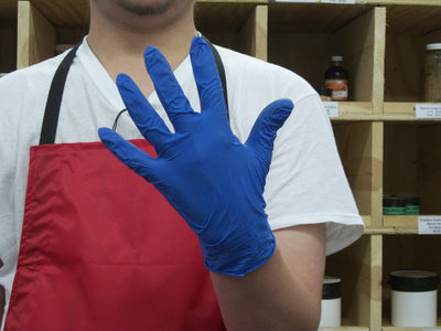 Blue Nitrile Skinning Gloves
