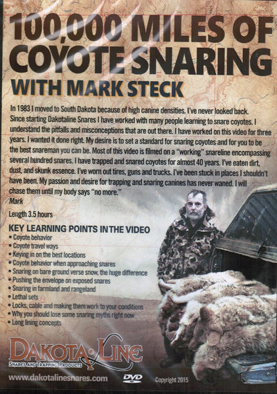 DVD-Steck-100,000 Miles of Coyote Snaring