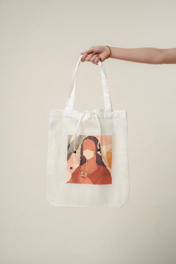 Mona Lisa Canvas Tote