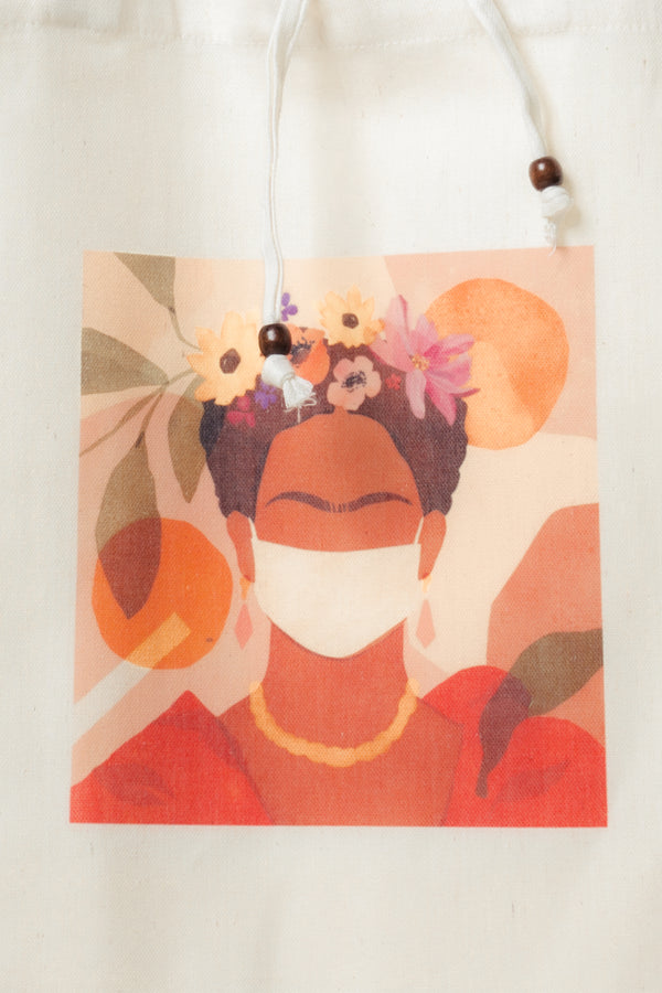 Frida Kahlo Canvas Tote