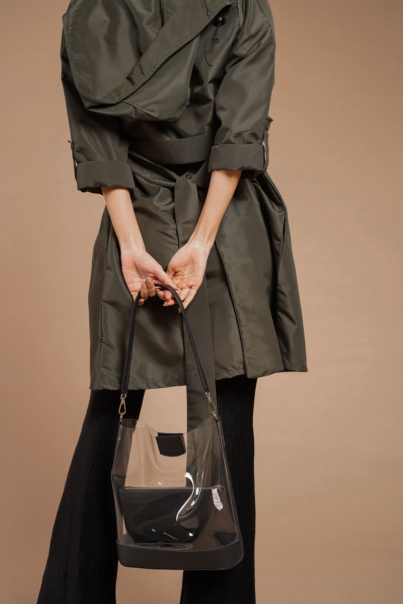TIFFANY PPE TRENCH & HOODIE (ARMY GREEN)