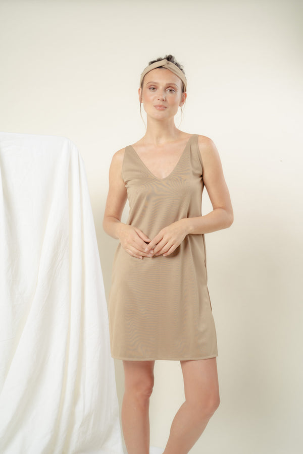 Sabine Reversible Lounge Dress (NUDE)