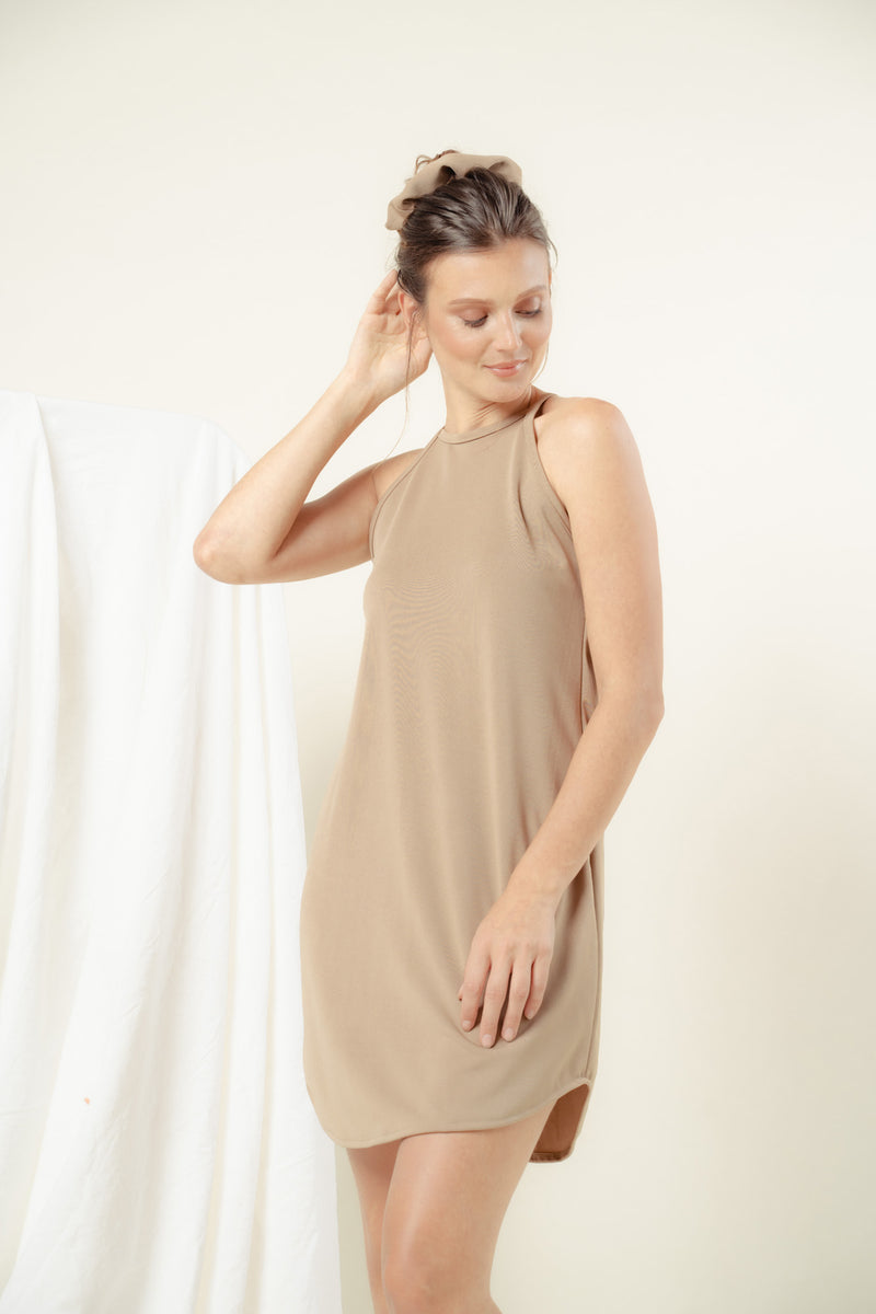 Naomi Halter Lounge Dress (NUDE)