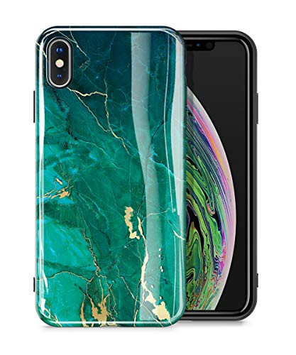 GVIEWIN Marble iPhone Xs Case/iPhone X Case, Ultra Slim Thin Glossy Soft TPU Rubber Gel Phone Case Cover Compatible iPhone X/iPhone Xs 2018, 5.8