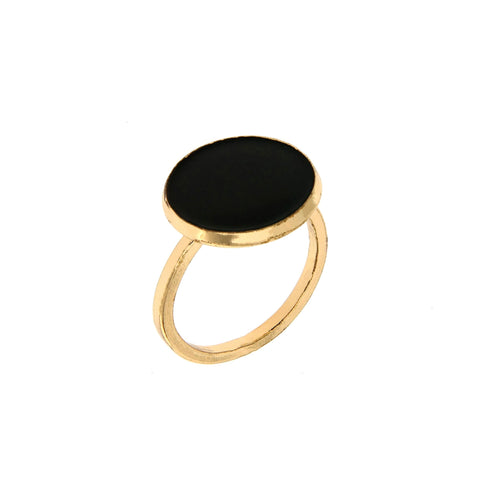 METAL CHORD ANELLO BLACK ROUND