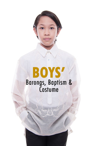 BW Boys' Barongs, Baptism, and Costume