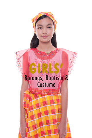 BW Girls' Filipiniana, Baptism, and Costume