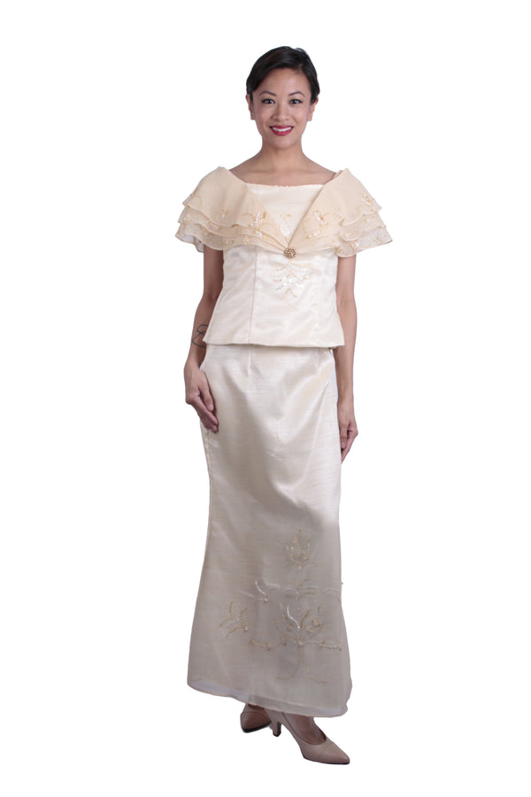 Pre-Order - Barot Saya Three-Layered Alampay 004 Filipiniana Womens Set