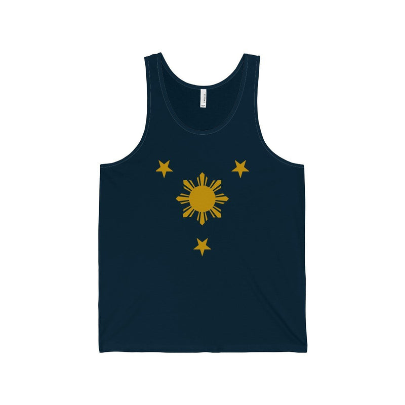 Three Stars & Sun - Unisex Jersey Tank 7 Colors Available Navy / Xs Top