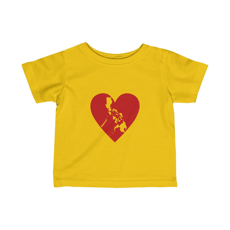 Pusong Pinoy - Infant Fine Jersey Tee - 11 Colors Available