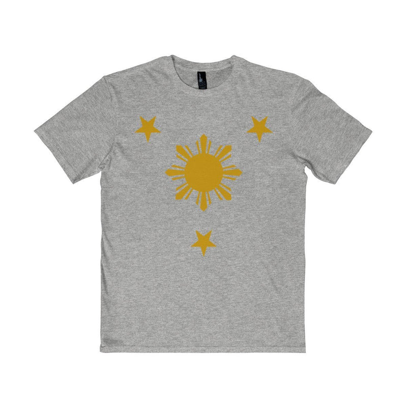 Three Stars & Sun - Unisex District T-Shirt 7 Colors Available Light Heather Gray / Xs