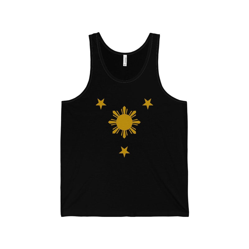 Three Stars & Sun - Unisex Jersey Tank 7 Colors Available Black / Xs Top
