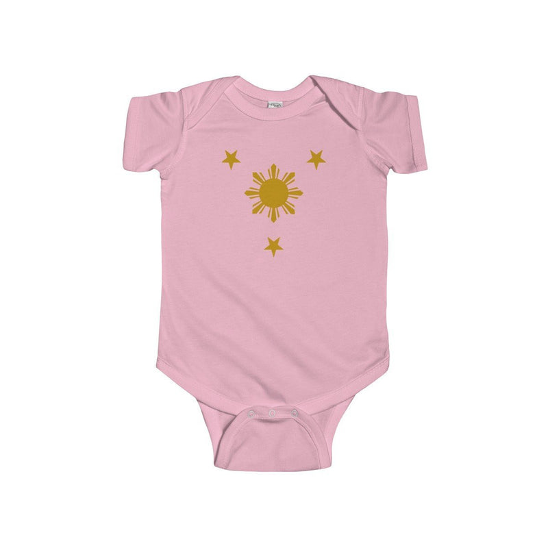 Three Stars & Sun - Infant Onesie 9 Colors Available 12M / Pink Kids Clothes