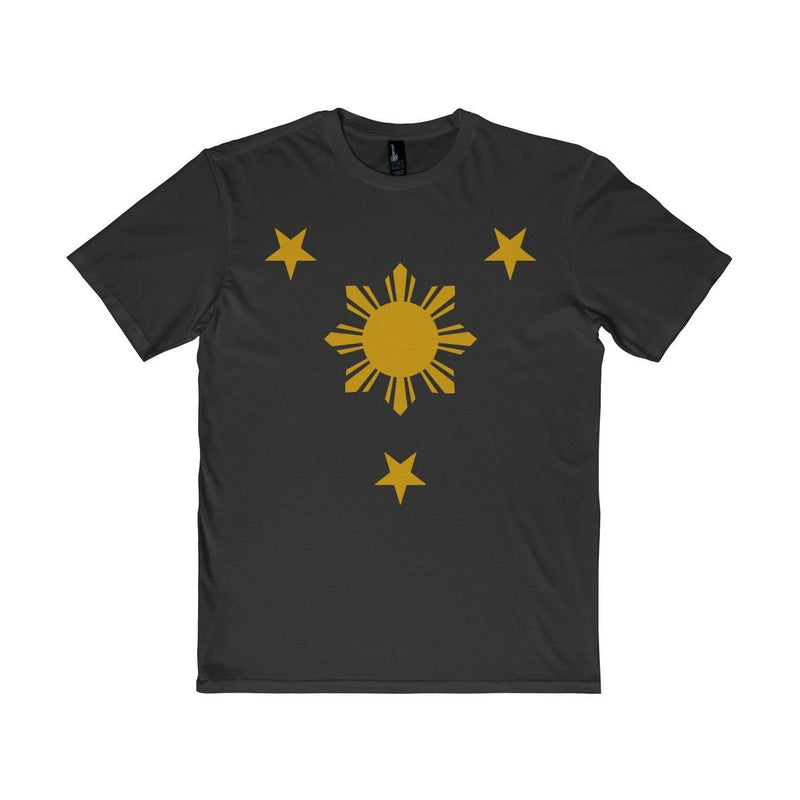 Three Stars & Sun - Unisex District T-Shirt 7 Colors Available Black / Xs