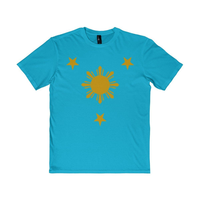 Three Stars & Sun - Unisex District T-Shirt 7 Colors Available Light Turquoise / Xs