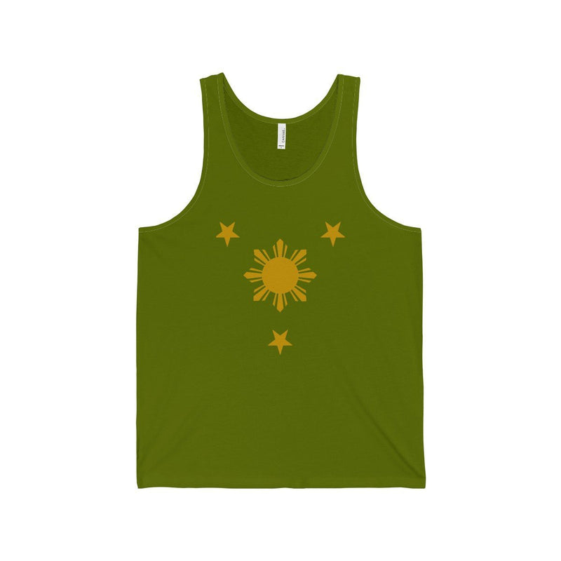 Three Stars & Sun - Unisex Jersey Tank 7 Colors Available Leaf / Xs Top