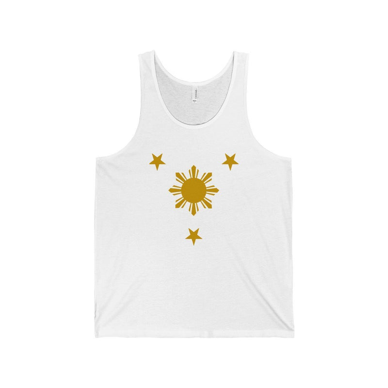 Three Stars & Sun - Unisex Jersey Tank 7 Colors Available White / Xs Top