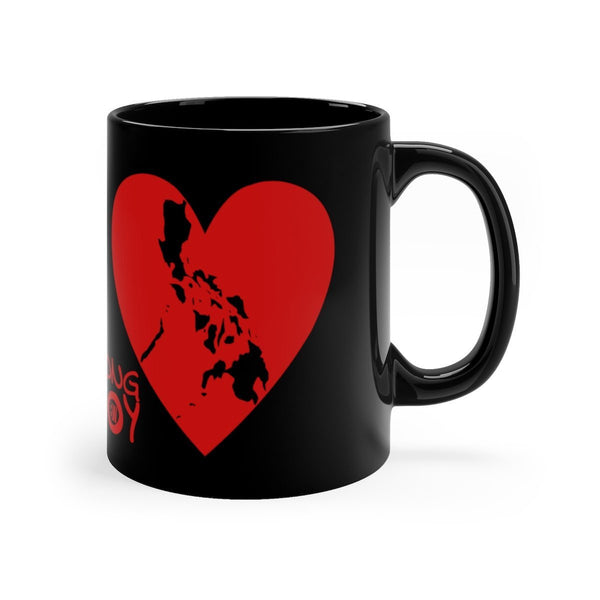 Pusong Pinoy - Black Mug 11Oz