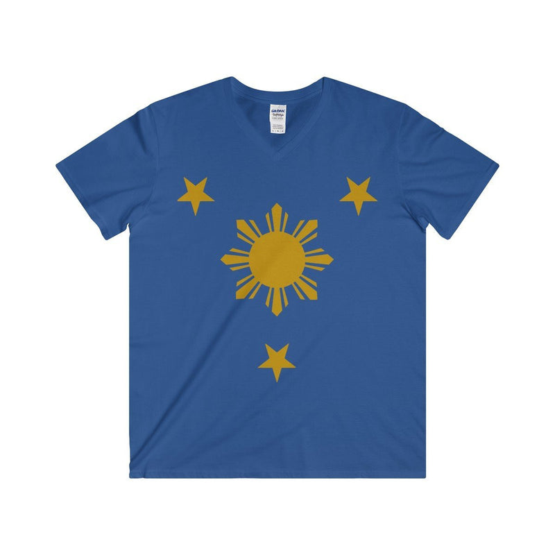 Three Stars & Sun - Fitted V-Neck Tee 7 Colors Available Royal / S V-Neck
