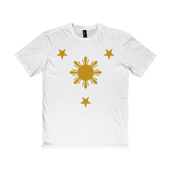 Three Stars & Sun - Unisex District T-Shirt 7 Colors Available White / Xs