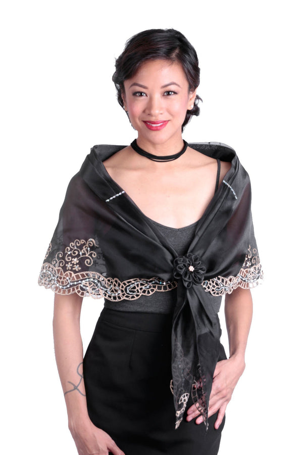 Cutwork Alampay Black 002 - Filipiniana Blouse